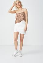 Cotton On - Pippa chooped cami - leopard tan