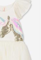 Cotton On - Iris tulle dress unicorn -  white