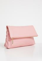 Anni King - Lianthus leather zip clutch bag - pink