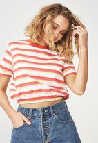 Cotton On - Summer multi stripe - white & red