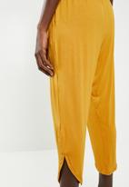 Superbalist - Strappy yoga jumpsuit - yellow