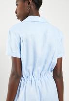 Superbalist - Linen blend jumpsuit - blue