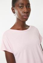 Superbalist - Knot back t-shirt - pink
