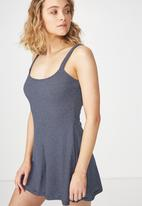Cotton On - Ronnie strappy playsuit - navy & white