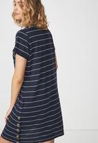 Cotton On - Tina T-shirt dress - navy and white