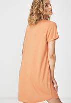 Cotton On - Tina -t-shirt dress - brown