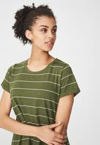 Cotton On - Tina -t-shirt dress - khaki