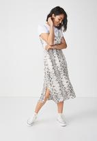 Cotton On - Woven satin midi dress - grey