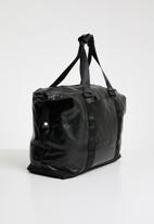 Superbalist - Jared faux leather duffel bag - black