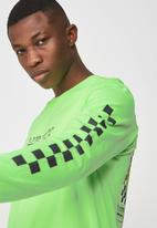 Cotton On - Tbar long sleeve tee - green