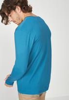 Cotton On - Tbar long sleeve tee - blue