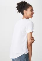 Cotton On - Elisa scoop neck rib tee - white