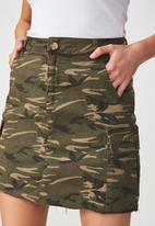 Cotton On - Utility cargo mini skirt - khaki green