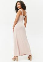 Forever21 - Knit dress with high slit - pink