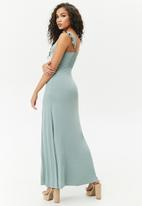 Forever21 - Knit dress with high slit - green