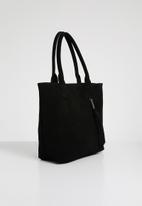 Julz - Leather vera tassel detail tote bag - black
