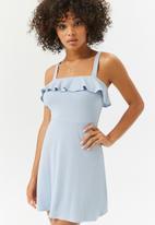 Forever21 - Babydoll frill dress - blue
