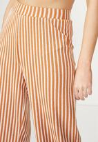 Cotton On - Marlee luxe culotte - honey brown