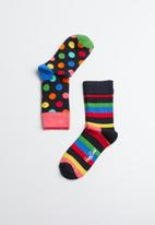 Happy Socks - Kids big dot socks 2 pack - multi
