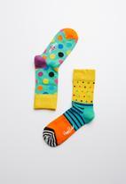 Happy Socks - Kids nautical big dot socks 2 pack - multi