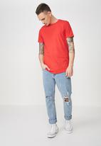 Cotton On - Essential longline curved hem tee - red