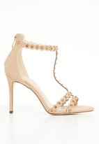 Miss Black - Amalie T-strap heels - neutral