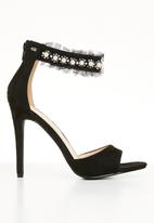 Miss Black - Moore open toe heels - black