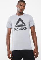 Reebok - El stacked tee - grey