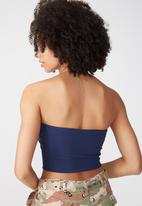 Supré  - Luxe strapless crop - navy
