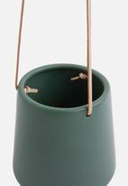 Present Time - Skittle hanging pot ceramic - matte jungle green