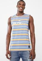 St Goliath - Benzyl muscle tank - blue