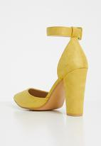 Superbalist - Farrah ankle strap heel - yellow