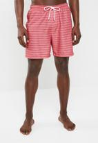 Superbalist - Basic elasticated swimshorts - coral
