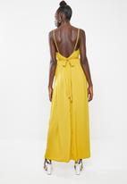 Missguided - Satin maxi dress - yellow