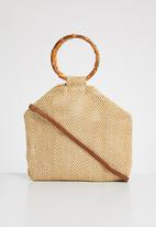 Superbalist - Serena bamboo handle bag - brown