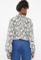 Superbalist - Peasant blouse - grey