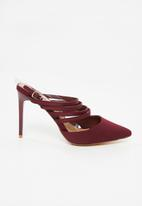 Madison® - Strappy slingback heels - burgundy