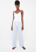 Superbalist - Cami & pants pyjamas set - blue & white