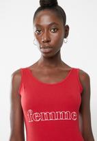 Superbalist - Printed bodysuit - red
