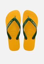 Havaianas - Brazil logo flip flops - yellow