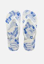 Havaianas - Aloha flip flops - white & blue