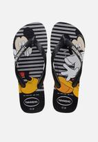 Havaianas - Disney stylish flip flops - grey & black