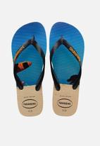 Havaianas - Hype flip flops - beige & blue