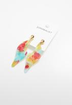 Superbalist - Multi coloured perspex earrings - multi