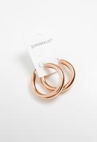 Superbalist - Tube hoop earrings-rose gold
