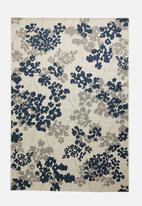 Fotakis - Floral cottage rug - blue