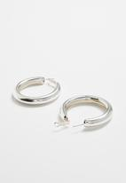 Superbalist - Tube hoop earrings - silver