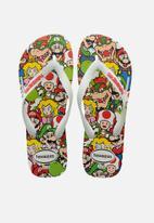 Havaianas - Mario bros flip flops - white