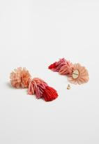 Superbalist - Flower layered tassel earrings - multi