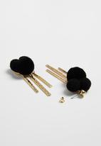 Superbalist - Pom pom earrings - black & gold